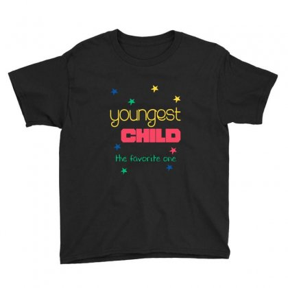 Youngest Child The Favorite Youth Tee Designed By Vanode Art