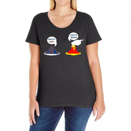 You're Hot You're Rock Ladies Curvy T-shirt Designed By Vanode Art