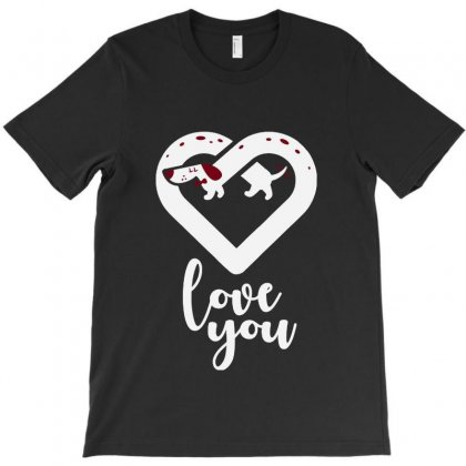 Love You Dachshund Dog T-shirt Designed By Bertaria