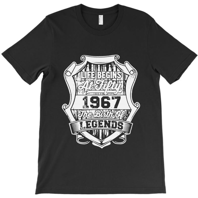 0a1ed082e Custom Life Begins At Fifty The Birth Of Legend T-shirt By Bertaria ...