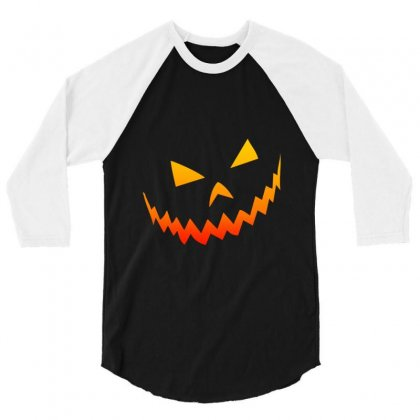 Halloween Smile 3/4 Sleeve Shirt Designed By Bertaria