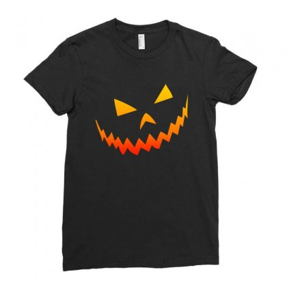 Halloween Smile Ladies Fitted T-shirt Designed By Bertaria