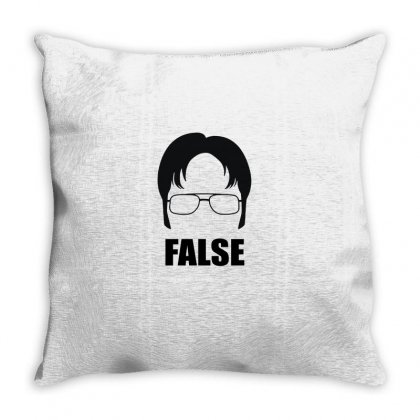 Dwight Schrute False Throw Pillow Designed By Badaudesign