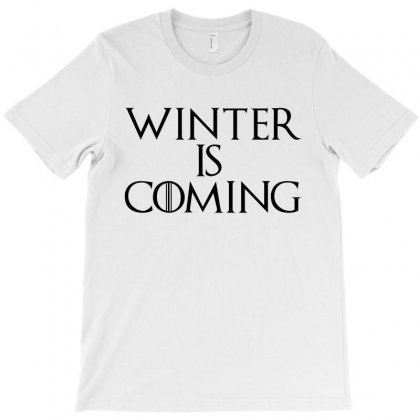 Winter Is Coming (black) T-shirt Designed By Republic Of Design