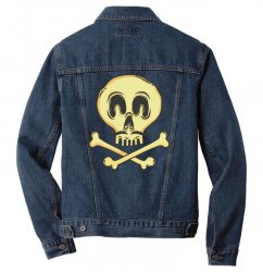funny skull mustache Men Denim Jacket | Artistshot