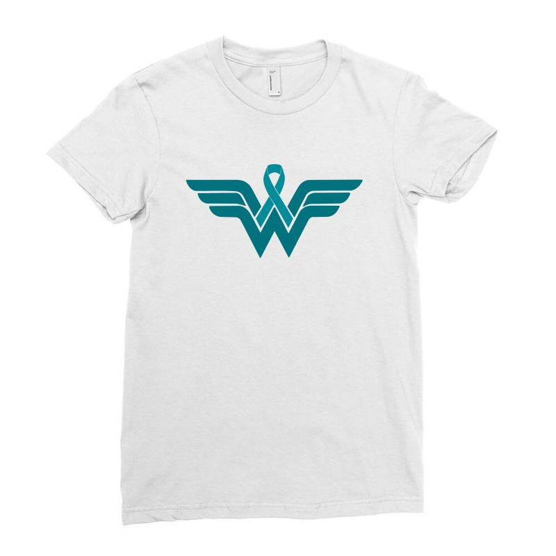 Sexual Assault Awareness Month Superhero Ladies Fitted T-shirt | Artistshot
