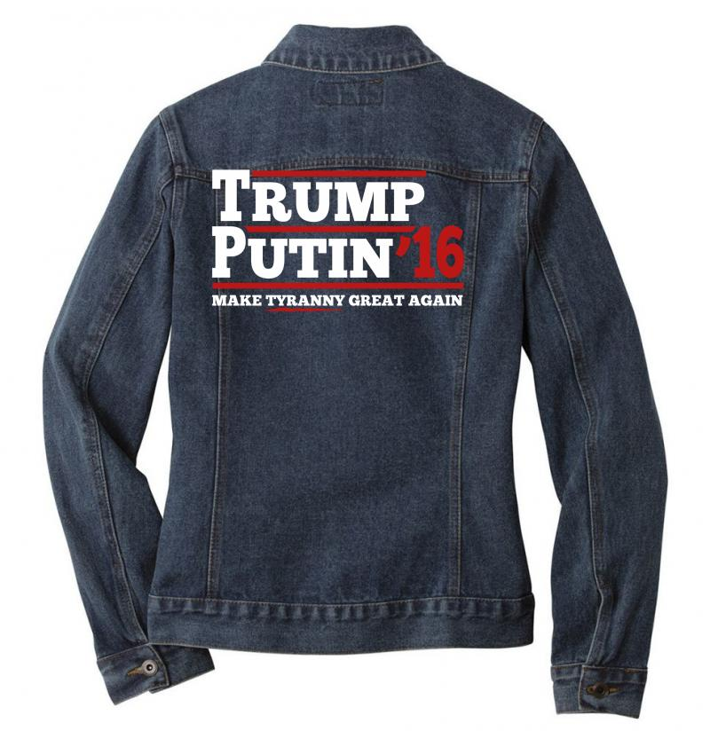 Trump Putin 2016 Ladies Denim Jacket | Artistshot