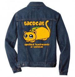 funny tacocat Men Denim Jacket | Artistshot