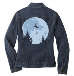 funny et moon bmx Ladies Denim Jacket | Artistshot