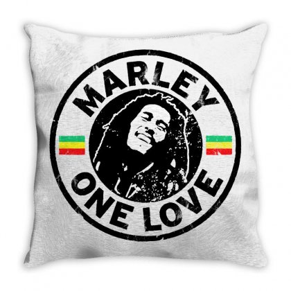 Bob Marley Throw Pillow Designed By Frizidan