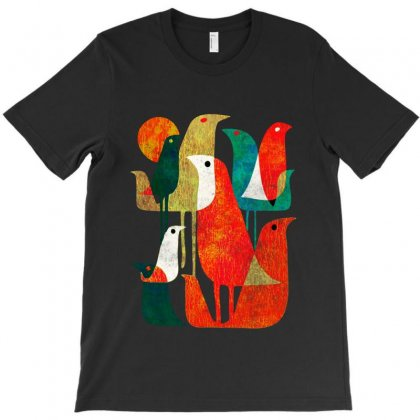 Birds T-shirt Designed By Frizidan
