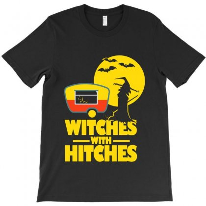 Witches With Hitches Halloween Camping T-shirt Designed By Bertaria