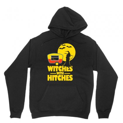 Witches With Hitches Halloween Camping Unisex Hoodie Designed By Bertaria