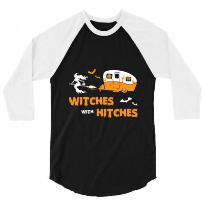 Witches With Hitches 3/4 Sleeve Shirt Designed By Bertaria