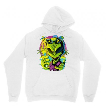 Alien Summer Vibes Unisex Hoodie Designed By Quilimo