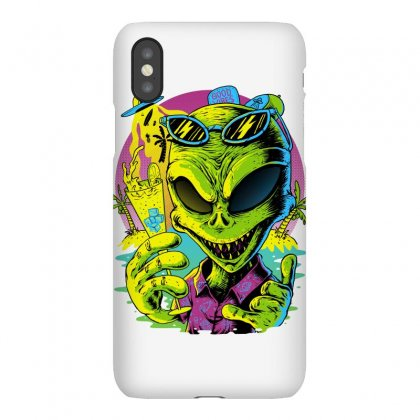 Alien Summer Vibes Iphonex Case Designed By Quilimo