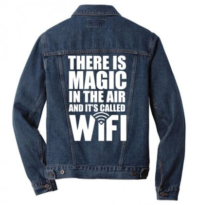 There Is Magic Called Wifi Men Denim Jacket Designed By Gematees