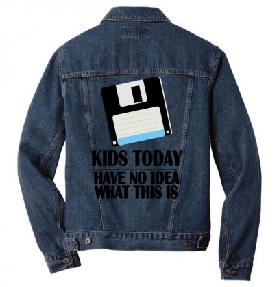 What This Is   Floppy Disk Men Denim Jacket Designed By Gematees