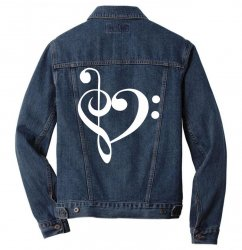 music heart rock baseball Men Denim Jacket | Artistshot