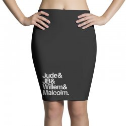 a little life book typography Pencil Skirts | Artistshot