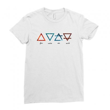 Alchemic Elements For Light Ladies Fitted T-shirt Designed By Seniha