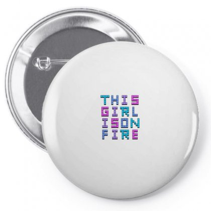 This Girl On Fire For Light Pin-back Button Designed By Seniha
