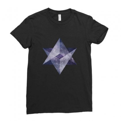 Sacred Galaxy Ladies Fitted T-shirt Designed By Seniha