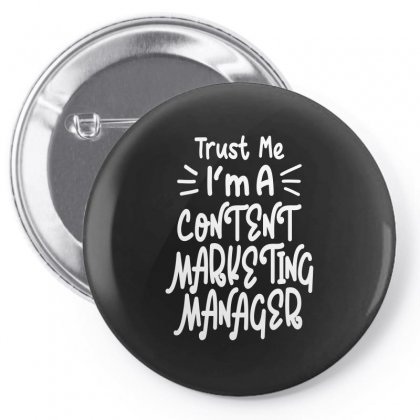 Content Marketing Manager Pin-back Button Designed By Cidolopez