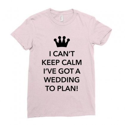 Wedding To Plan For Light Ladies Fitted T-shirt Designed By Nurbetulk
