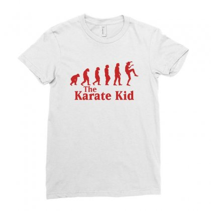 The Karate Kid Evolution Red Ladies Fitted T-shirt Designed By Sengul