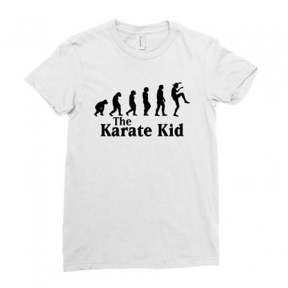 The Karate Kid Evolution For White Ladies Fitted T-shirt Designed By Sengul