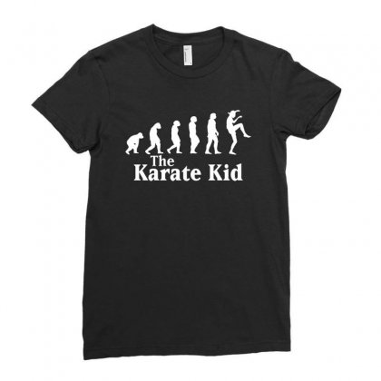 The Karate Kid Evolution For Dark Ladies Fitted T-shirt Designed By Sengul