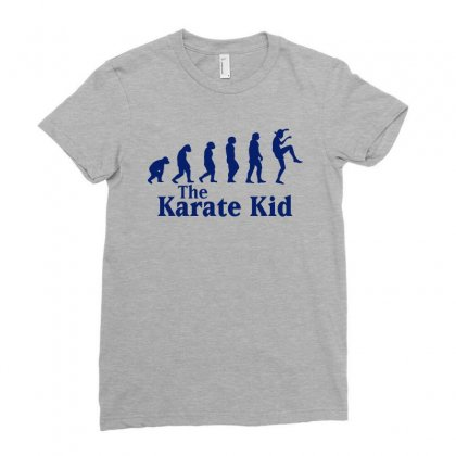 The Karate Kid Evolution Blue Ladies Fitted T-shirt Designed By Sengul