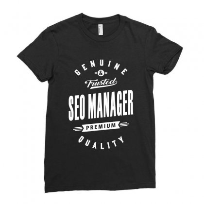 Seo Manager Ladies Fitted T-shirt Designed By Cidolopez