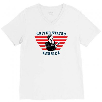 United States America Beto V-neck Tee Designed By Sengul