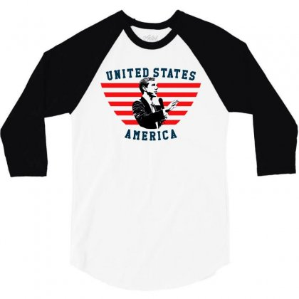 United States America Beto 3/4 Sleeve Shirt Designed By Sengul