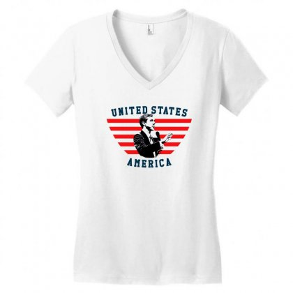 United States America Beto Women's V-neck T-shirt Designed By Sengul