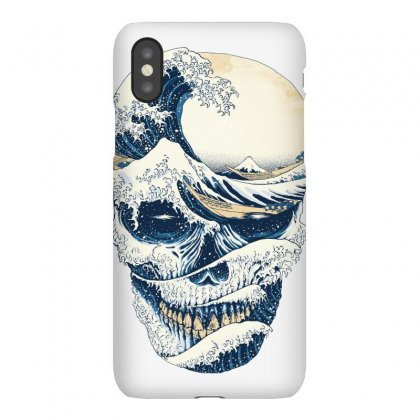The Great Wave Off Skull Iphonex Case Designed By Quilimo