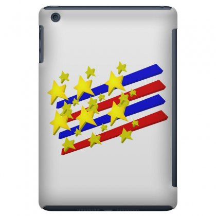 Flag Transparent Cartoon American Ipad Mini Case Designed By Salmanaz