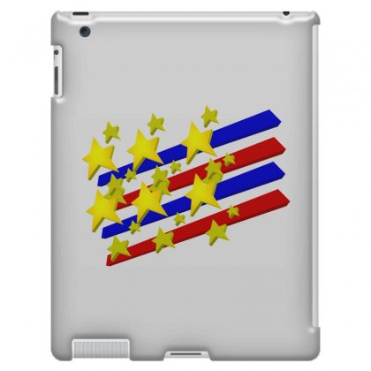 Flag Transparent Cartoon American Ipad 3 And 4 Case Designed By Salmanaz
