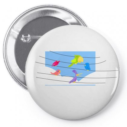 Birds Music Notes Song Pin-back Button Designed By Salmanaz