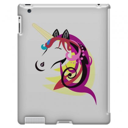 Unicorn Horse Cartoon Design Cute Ipad 3 And 4 Case Designed By Salmanaz