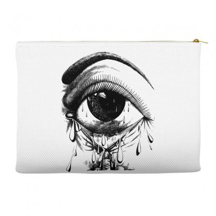 Allergy Art Crying Drawing Eye Accessory Pouches Designed By Salmanaz