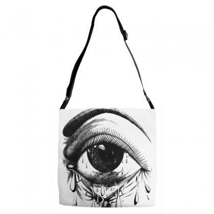 Allergy Art Crying Drawing Eye Adjustable Strap Totes Designed By Salmanaz