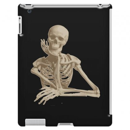 Skeleton Smiling Sitting Cartoon Ipad 3 And 4 Case Designed By Salmanaz
