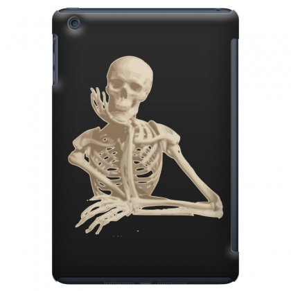 Skeleton Smiling Sitting Cartoon Ipad Mini Case Designed By Salmanaz