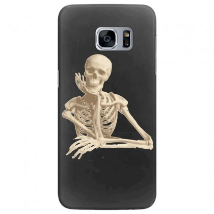 Skeleton Smiling Sitting Cartoon Samsung Galaxy S7 Edge Case Designed By Salmanaz