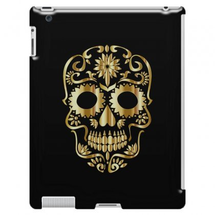 Sugar Skull Bones Calavera Ornate Ipad 3 And 4 Case Designed By Salmanaz