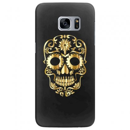 Sugar Skull Bones Calavera Ornate Samsung Galaxy S7 Edge Case Designed By Salmanaz