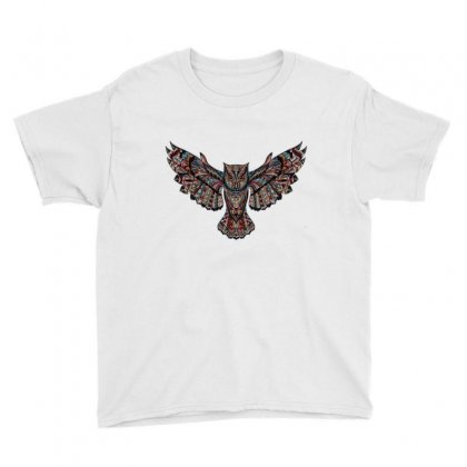 Owl Metallizer Art Glass Factory Youth Tee Designed By Salmanaz